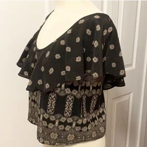 Free People curtain top blouse. Size Small